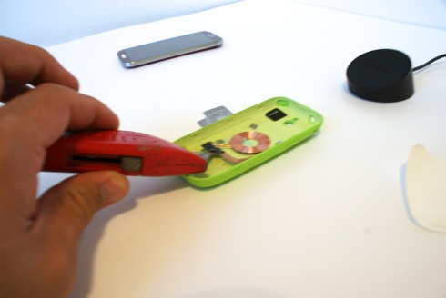 Removing Palm Pixi case circuitry